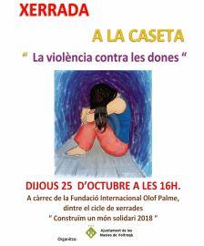 Xerrada - La violència contra les dones